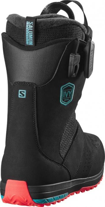 b89f9633aec snowboard boty Salomon IVY black teal blue red