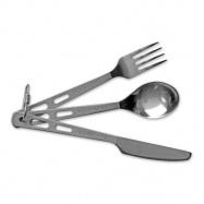 Lifeventure Knife Fork Spoon Set - Titanium