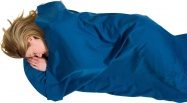 Lifeventure Polycotton Sleeping Bag Liner navy rectangular