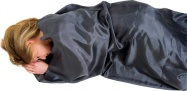 Lifeventure Silk Sleeping Bag Liner grey rectangular