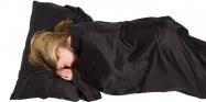 Lifeventure Silk Sleeping Bag Liner black rectangular