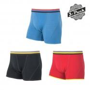 SENSOR MERINO ACTIVE pánské trenky 3-pack černá/červená/modrá