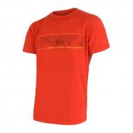 SENSOR MERINO ACTIVE PT GPS pánské triko kr.rukáv červená