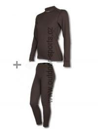 Akční set SENSOR Double Face dámský dlouhý rukáv + nohavice černá - L