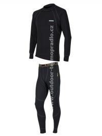Akční set SENSOR Double Face dlouhý rukáv + nohavice černá - XXL
