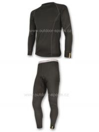 Akční set SENSOR MERINO WOOL ACTIVE pánský dlouhý rukáv + nohavice černá - XXL