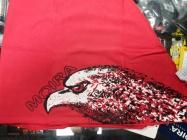 MOIRA Bavlněný šátek červená Orel
