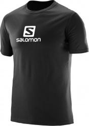 triko Salomon Coton logo SS M black 17/18