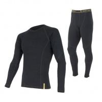 Akční set SENSOR Double Face MERINO WOOL pánnský dlouhý rukáv + nohavice černá - XL