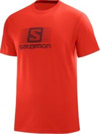 triko Salomon Blend logo SS M fiery red
