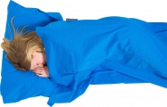 Lifeventure Cotton Sleeping Bag Liner blue rectangular