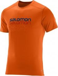 triko Salomon Cosmic logo SS M clementine-X