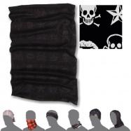 SENSOR TUBE SKULLS šátek multifunkční černá