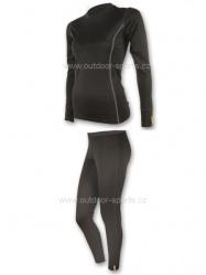 Akční set SENSOR MERINO WOOL ACTIVE dámský dlouhý rukáv + nohavice černá