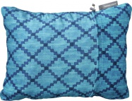 THERM-A-REST COMPRESS PILLOW M Blue Heather polštářek modrý se vzorem