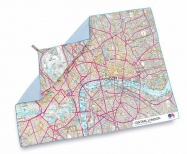 Lifeventure Printed SoftFibre Advance Map Towel central London