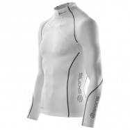 SKINS A200 Mens White Thermal L/S Mck Neck