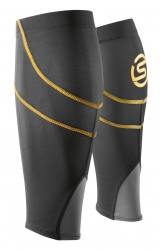 SKINS Essentials Unisex Calftights mx Black/Yellow