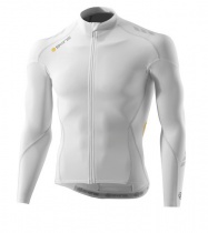 SKINS Cycle C400 Mens White Compresn L/S Jersey