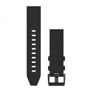 Řemínek pro fenix5 Plus - QuickFit 22, kožený  černý