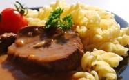 Expres menu Milánská hovězí pečeně 1 porce