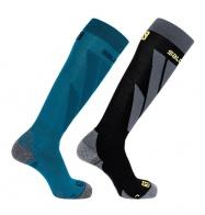 ponožky Salomon S/Access 2pack blue/black L 19/20