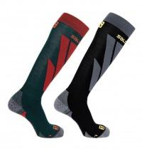 ponožky Salomon S/Access 2pack green/black M 19/20