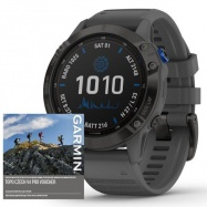 Garmin fenix6 PRO Solar, Black/Slate Band (MAP/Music)