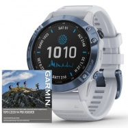 Garmin fenix6 PRO Solar, Titanium Blue/Whitestone Band
