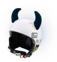 Crazy Uši ozdoba na helmu - ROHY černé velké