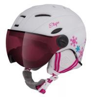 Etape - dětská lyžařská přilba RIDER PRO, bílá/růžová mat