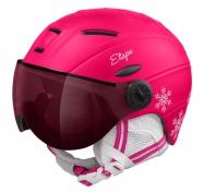 Etape - dětská lyžařská přilba RIDER PRO, růžová/bílá mat
