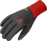 rukavice Salomon Equipe U black/goji berry 20/21