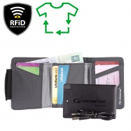 Lifeventure RFiD Charger Wallet Recycled grey