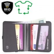 Lifeventure RFiD Compact Wallet Recycled grey