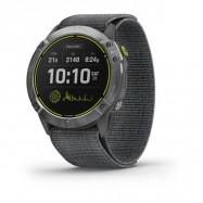 Garmin Enduro, Silver/Gray Nylon Band