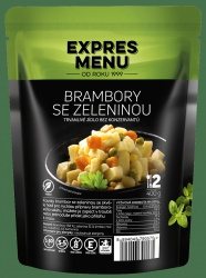 Expres menu Brambory se zeleninou (2 porce)