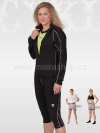 MOIRA DIAGON kalhoty capri černá