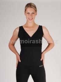MOIRA FITNESS Swarowski dámské triko bez rukávu 1 černá