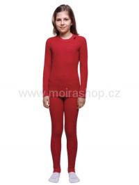 MOIRA MONO dětské spodky dlouhé nohavice 130-160 červená