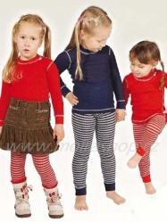MOIRA MONO dětské spodky dlouhé nohavice 90-120