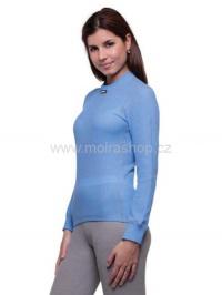 MOIRA MONO triko dámské dlouhý rukáv chrpa šedý šev