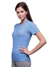 MOIRA MONO triko dámské s krátkým rukávem chrpa šedý šev