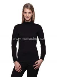 MOIRA Warm Stretch dámské triko s dlouhým rukávem černá