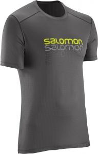 triko Salomon Cosmic logo SS M galet grey