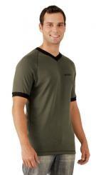 MOIRA SOFT KR6 pánské triko krátký rukáv zelená