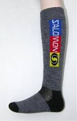ponožky Salomon Elios šedo černá