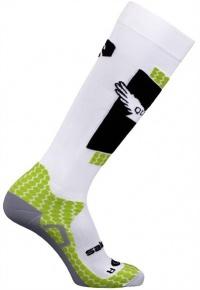 ponožky Salomon Quest white/green 11/12