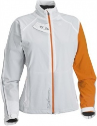 bunda Salomon Momentum Softshell W white/orange
