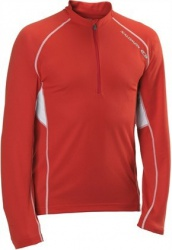 triko Salomon Trail Runner LS Zip M red